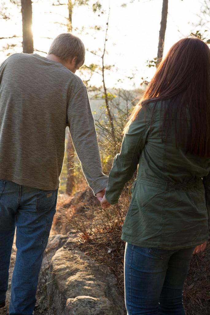 Red River Gorge photos, Kentucky engagement photos, hiking, Kentucky bride, Georgetown KY wedding photographer