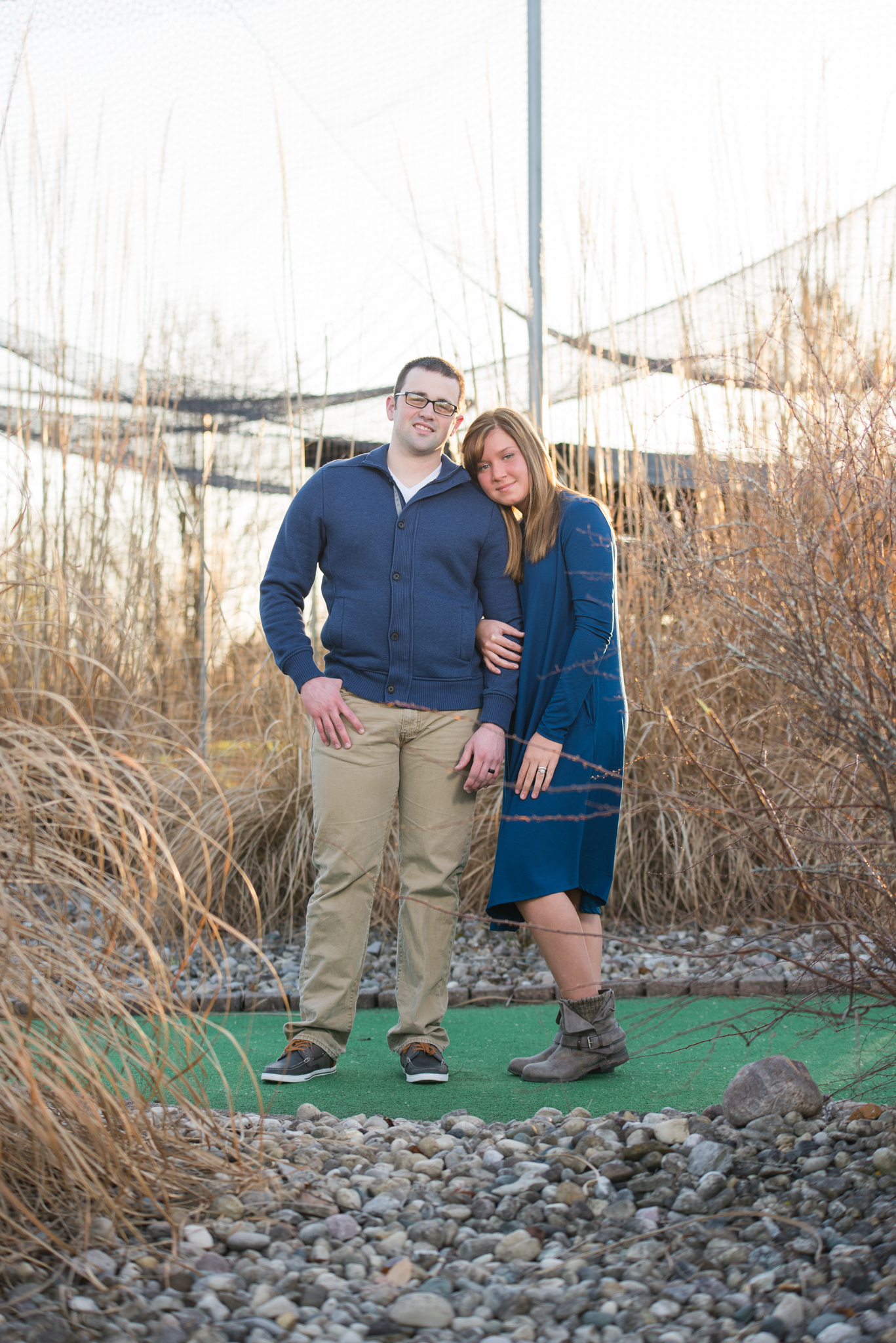 Richmond KY engagement session at batting cages