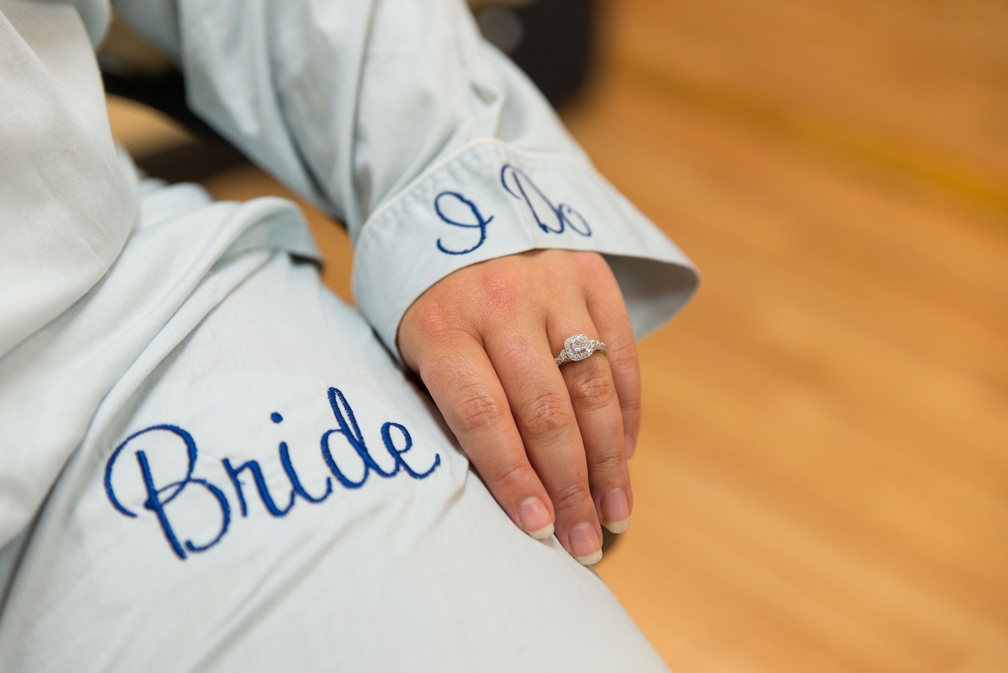Ring shot while bride is getting ready