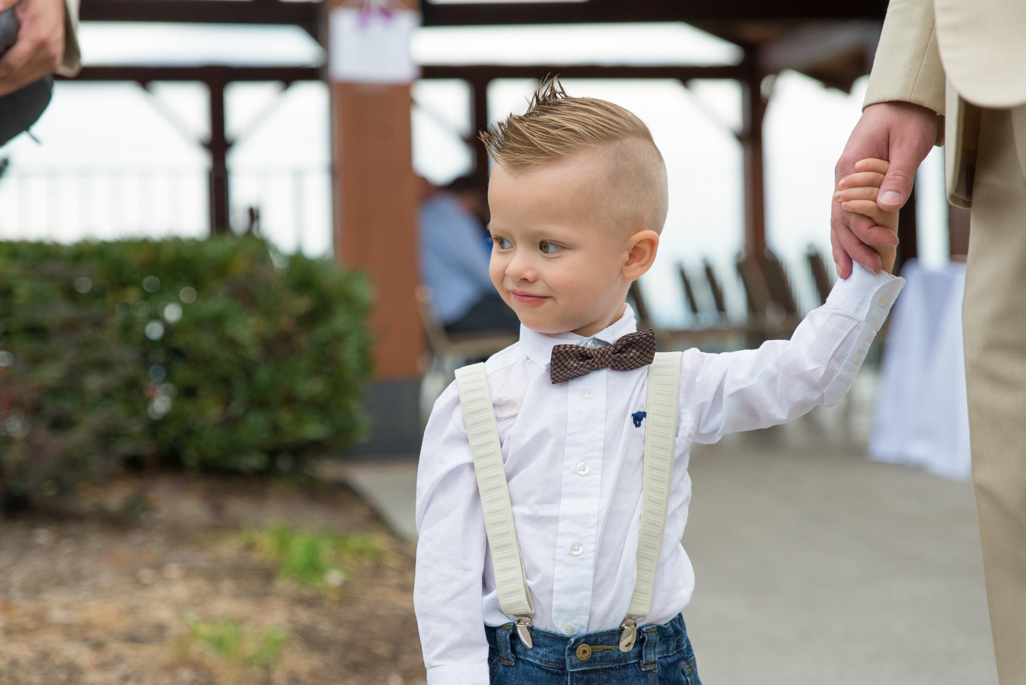Ring bearer before Gatlinburg, TN wedding