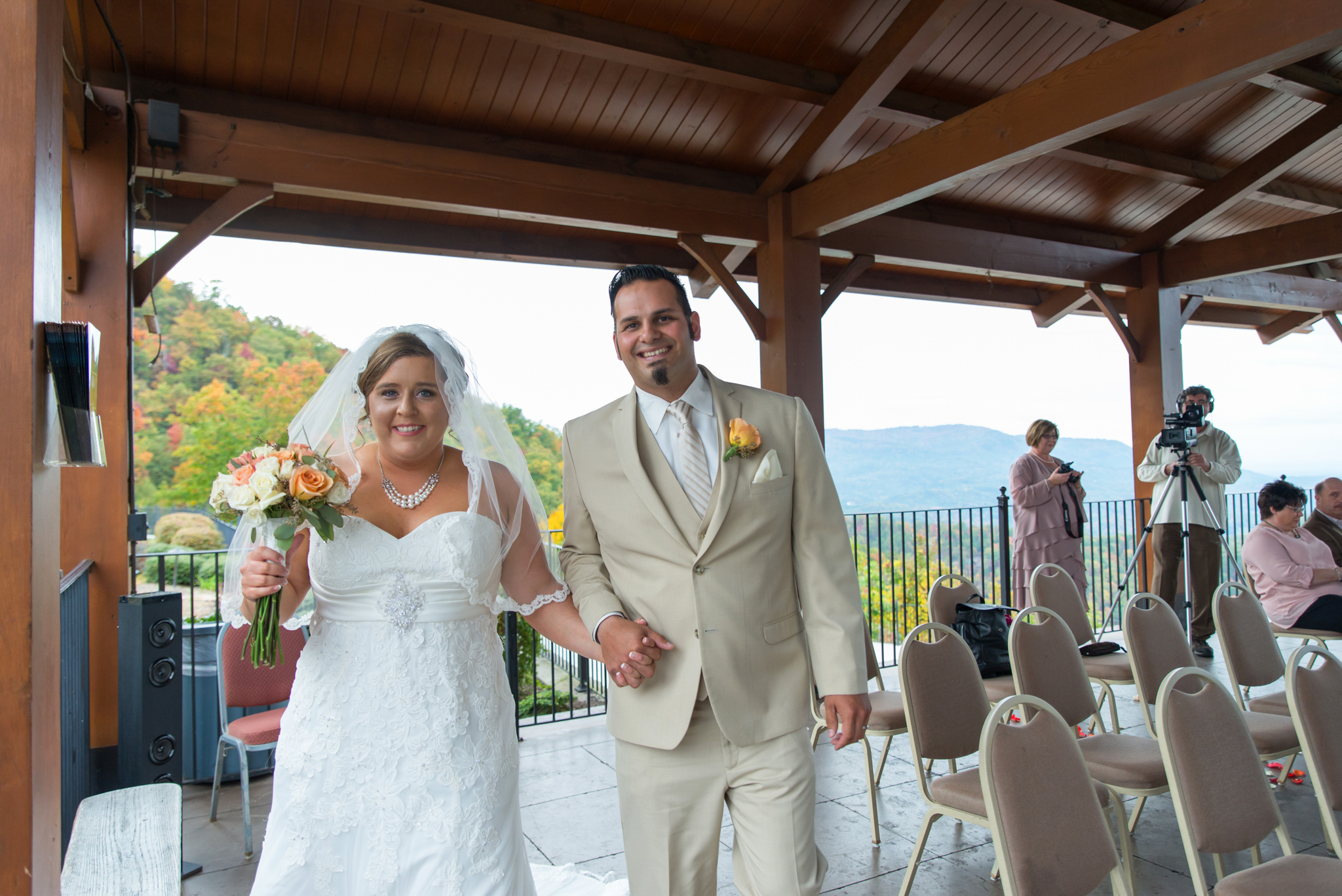 Bride and groom at Hearthside at the Preserve wedding