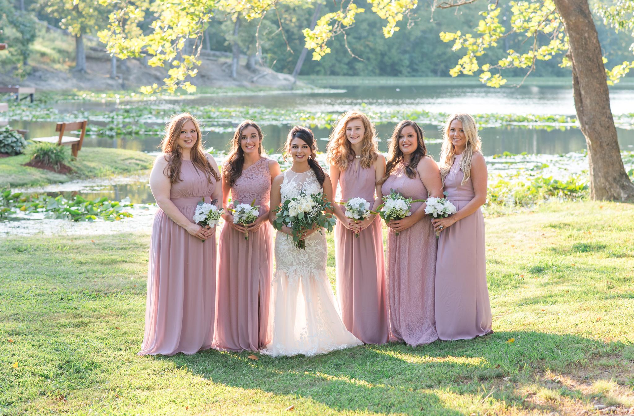 bridesmaids, bride, Kentucky, wedding photos, Stanton, Red River Gorge