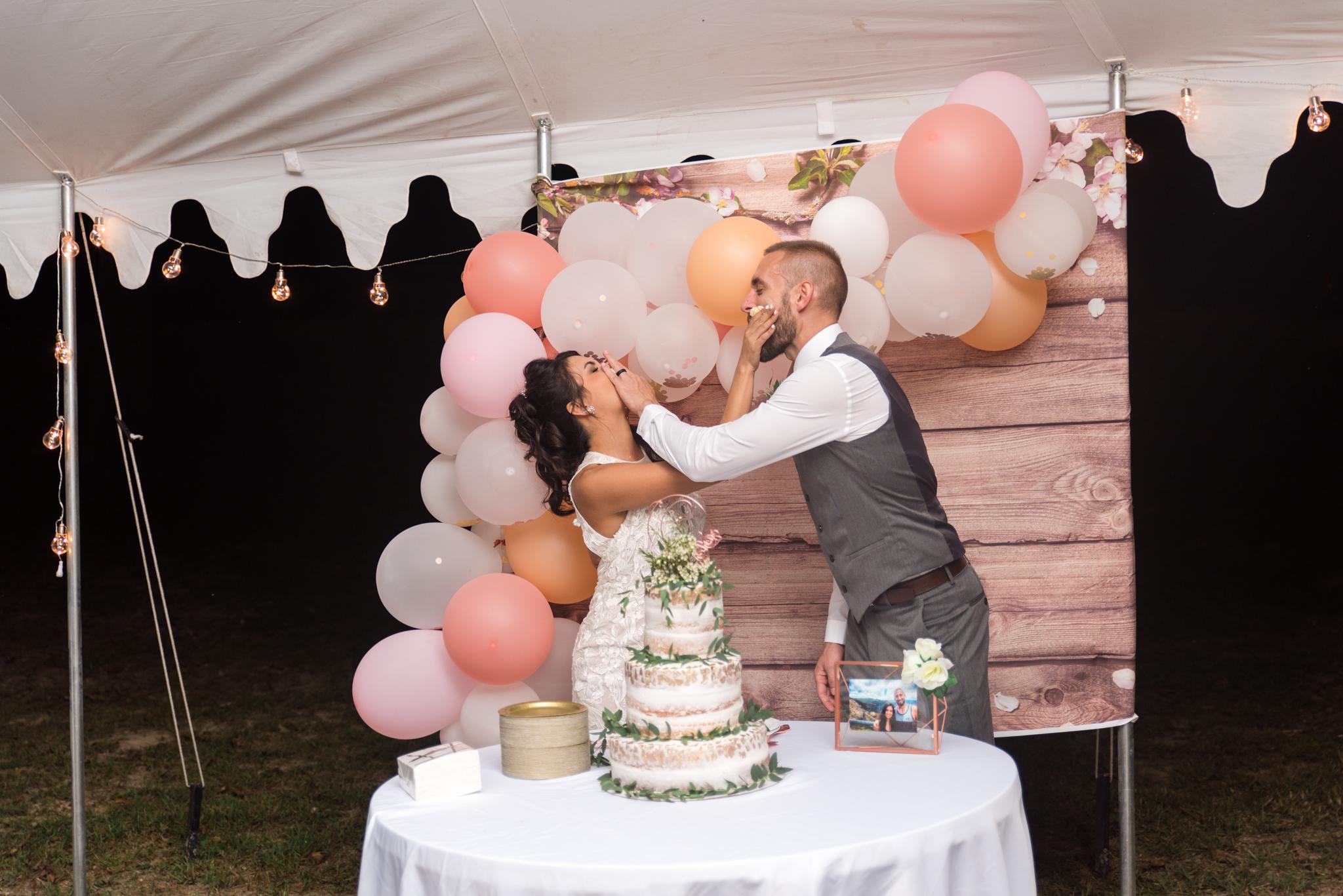 Wedding cake, Lexington KY, Kentucky bride, Kentucky wedding, Red River Gorge wedding photographer