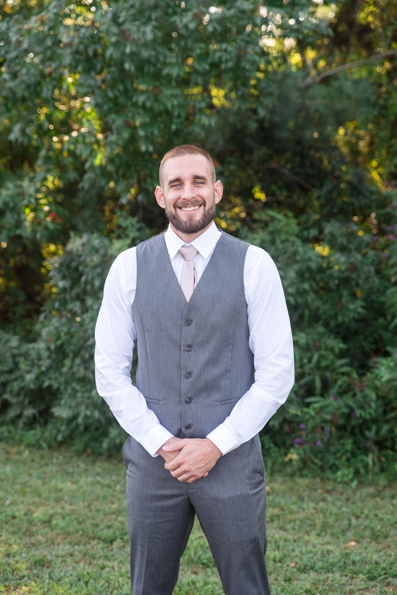 First Look, Groom, Kentucky wedding