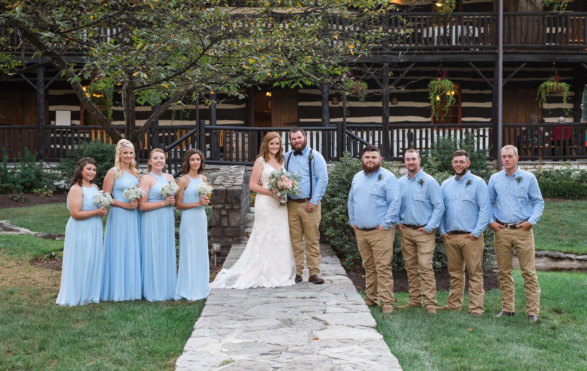 Kentucky wedding party