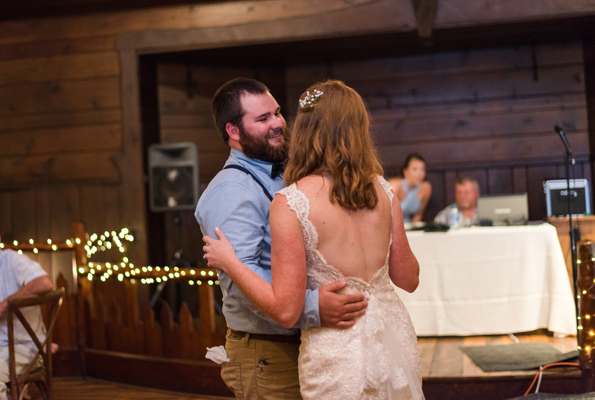 bride and groom dance at buffalo trace distillery