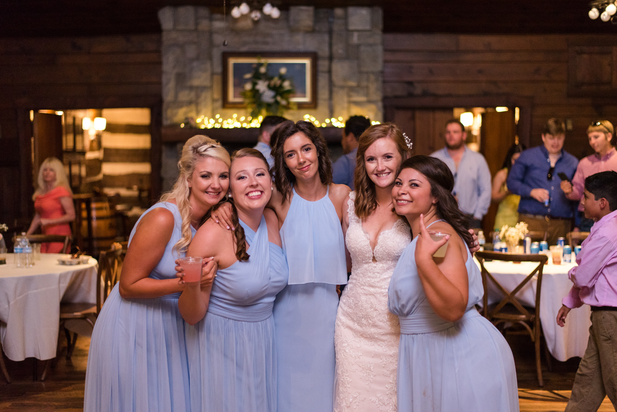 bride and bridesmaids at Buffalo Trace Distillery in Frankfort, KY